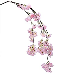 Artificial Cherry Blossom Branches Flowers Stems Fake Flower Arrangements for Home Wedding Decoration 61