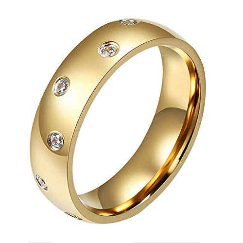 LTM 316L Stainless Steel for Women Metal Fine Party Wedding Anniversary Ring (7) -