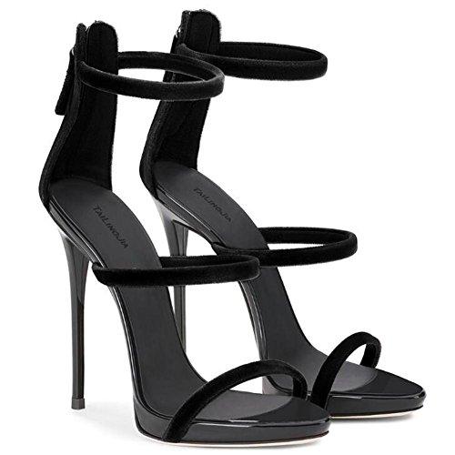 EU45 Vestito Pelle 35 Tacco a Scarpe Dimensioni Roma da sandali a Festa 45 verniciata donna cinghie Club GAOGENX da spillo Cgw0Hwq