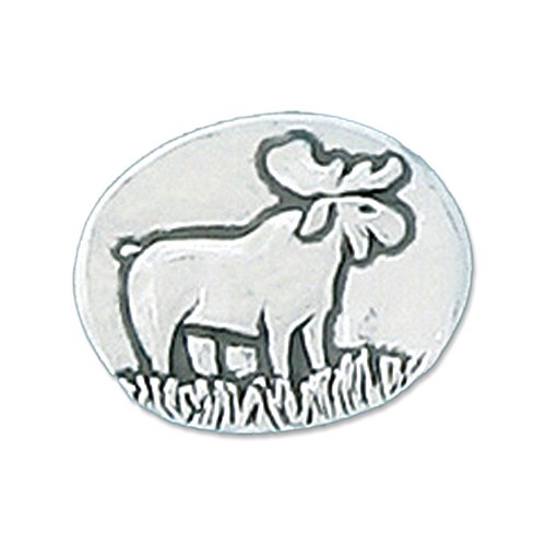 Moose - Live Large : Pocket Token or Lucky Novelty Coin, One Inch, Handcrafted Lead-Free Pewter