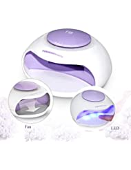 Portable Nail Dryer With Fan & LED Light By TOUCHBeauty Non-Blacken Hands Mini Size