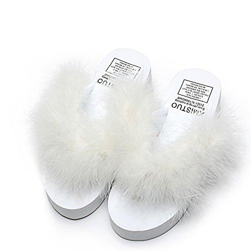 chaussures Pour femmes Couleur Chaussures air 1 femmes talons taille UK4 glissières EU36 pantoufles estivales 7 couleurs à à HAIZHEN CN36 hauts Sandales 7 pour plein la Femmes en avec mode dqgdTB1nc