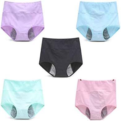 5Pcs/Lot Leak Proof Menstrual Period Panties Women Underwear Pants Healthy Cotton Seamless Panties