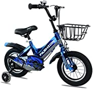 MAYQMAY 14 inch Kids Bike with Training Wheels Adjustable Seat for Boy's Bikes and Girl's Bik