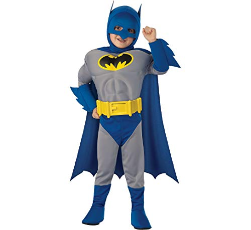 RUBIE'S COSTUME CO The Dark Knight Rises Batman Muscle Halloween Costume for Toddlers, 2-4T, with Included Accessories