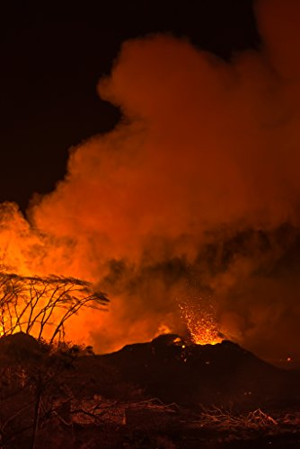 'Lava in the Night' Kilauea East Rift Zone 2018 lava Eruption, Hawaii Island - large unframed original print direct from Big Island photographer Harry Durgin by Tanglewood Gallery