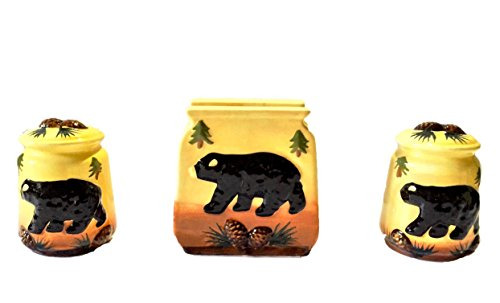 Tuscan Bear Collection Hand Painted Napkin, Salt and Pepper Stove tove Set, 86428 By ACK ()