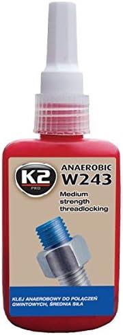 K2 Schraubensicherung Mittelfest Schrauben Kleber Metallkleber Sekundenkleber Schrauben Sicherung 50ml Auto