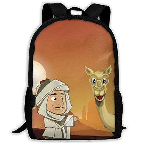 Desert Safari UAE Travel Arab Sand Oxford Unisex Adult Backpack Lightweight Travel Day-packs Laptop Backpack -