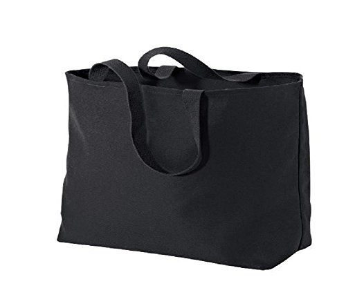Fancy Twill Cotton Tote Bag Jumbo Size for Shopping, Travel (1, Black)