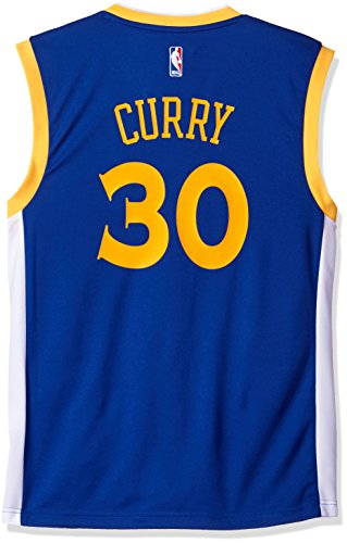 Adidas Jersey Hat (NBA Golden State Warriors Stephen Curry Road Replica Jersey Blue, XX-Large)