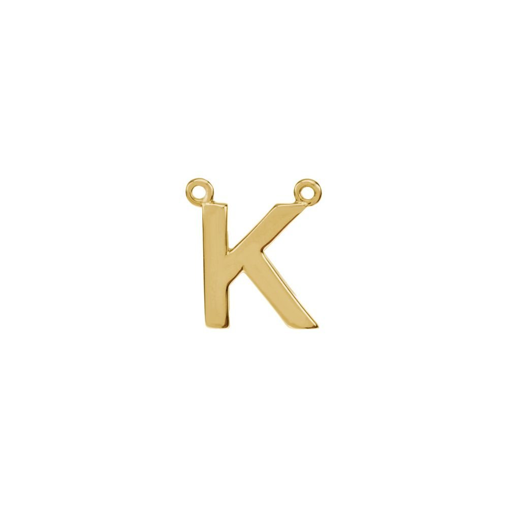 Jewels By Lux 14K Yellow Gold Letter Block Initial Necklace Center