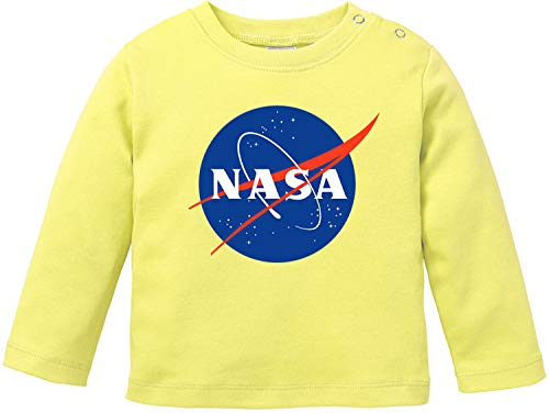 EZYshirt® NASA officieel logo T-shirt lange mouwen baby bio katoen