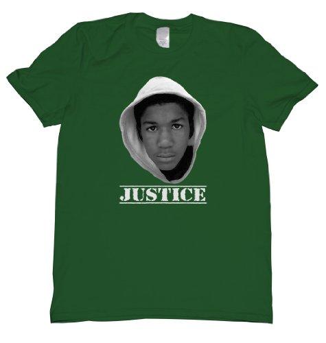 Trayvon Martin Justice Tee Shirt Mens XXL green U