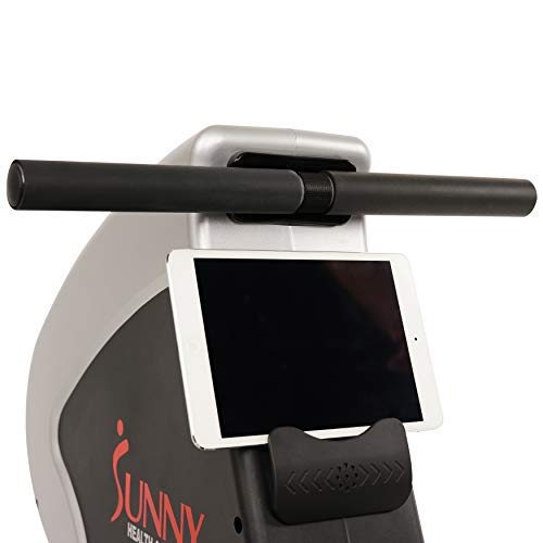 Sunny Health & Fitness Compact Folding Magnetic Rowing Machine Rower, LCD Monitor with Tablet Holder - Synergy Power Motion - SF-RW5801 by Sunny Health & Fitness (Image #13)