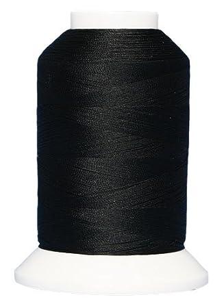 Kimono Silk ThreadFilament Silk #380 Black Belt 1,090 Yd Superior Threads Mini-Cone