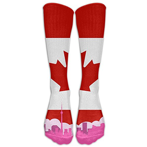 Canadian Flag Canada Unisex Funny Casual Athletic Warm Winter Crew Socks For Women For - Canada Usps Delivery