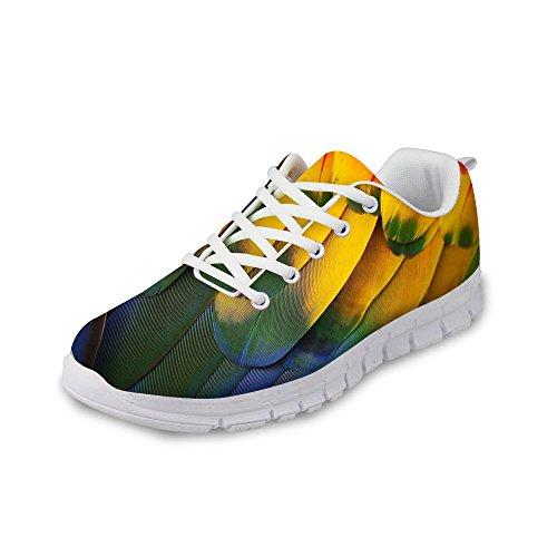 Voor U Ontwerpen Mode Nieuwe Stijl Unisex Flex Light Mesh Ademende Sneaker Hardloopschoenen Geel 2