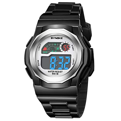Bestow Ni?os ni?os Estudiante Impermeable y prevencišn de cašªdas Reloj de la Escuela Primaria Reloj Deportivo LED Reloj (Amarillo): Amazon.es: Ropa y ...