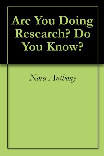 Are You Doing Research? Do You Know?