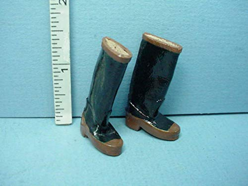 DolH Miniature Garden ''Wellies'' Boots 1/12th Scale Teri's Mini Workshop