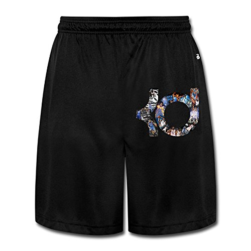 YQUE56 Men's Kevin KD Durant Basketball Sport Poster Shorts Jogger Pants Color Black Size - Tom Shades Cruise