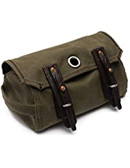 Saddleback Leather Canvas Dopp Kit - Hanging Canvas and Leather Mens Toiletry Bag - 100 Year Warranty
