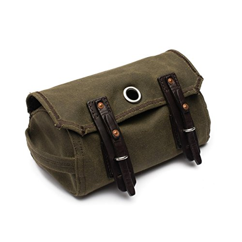 Saddleback Leather Canvas Dopp Kit - Hanging Canvas and Leather Men's Toiletry Bag - 100 Year Warranty by Saddleback Leather Co.