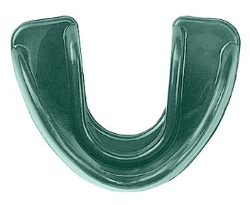 Dark Green Multi-Sport Double Impression Mouthguard Strapless (Soccer, Basketball, Baseball, Softball) (Guards Softball Mouth)