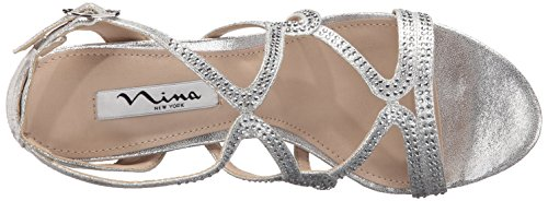 Sandal Varsha Dress Yf Nina Skylight Women's Silver UAR1wwPB