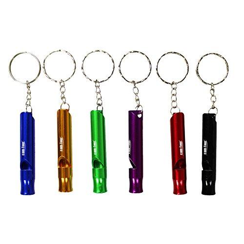 COM-FOUR® Notfallpfeife Pfeife Signalpfeife in verschiedenen Farben (6)