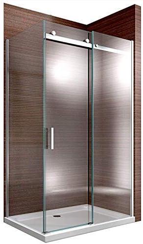 Duschkabine 80x120 120x90 Eckeinstieg Echtglas Duschabtrennung Nano Glas 195cm