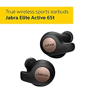 Jabra Elite Active 65t True Wireless Bluetooth Spots Earbuds and Charging Case with Alexa Built In, Copper Black – Exclusive to Amazon