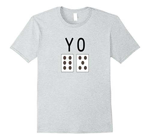 Mens Mens Craps Game YO Dice Funny Game Graphic 11 Shirt Large Heather Grey