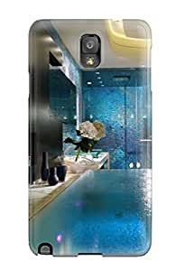 High-quality Durable Protection Case For Galaxy Note 3(contemporary Master Bathroom With Blue Mosaic Tile Shower 038 Infinity Edge Tub)