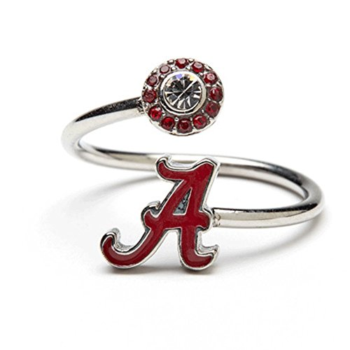 University of Alabama Ring | Alabama Jewelry | Adjustable Stainless Steel Alabama Ring | Alabama Crimson Tide Gift