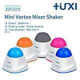 Mini Vortex Mixer +UXI Vortex Shaker Lab Salon Mixer 3000rpm 5W Portable and Small Quickly and Evenly Mix Test Tubes and Centrifuge Tubes (Pink)