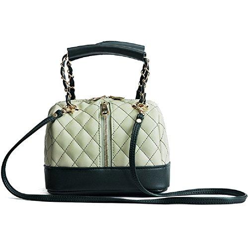 Femme Lady Oreiller Zipper Portable Poche Plaid Poche Fashion New ZHRUI Vert Épaule Diagonale qZRAUU
