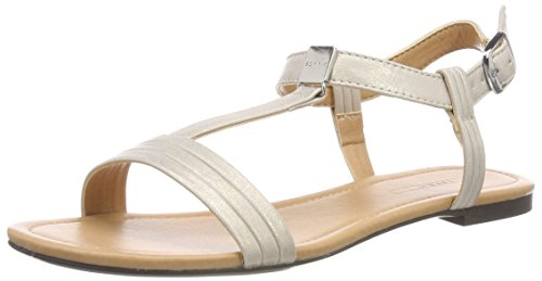 ESPRIT WoMen Pepe T-Strap Ankle Strap Sandals Grey (Ice 055)