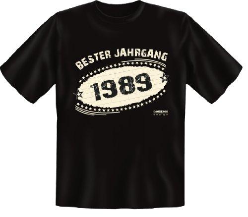 T-Shirt - Bester Jahrgang 1989 - lustiges Sprüche Shirt ideal als Geschenk zum 28. Geburtstag