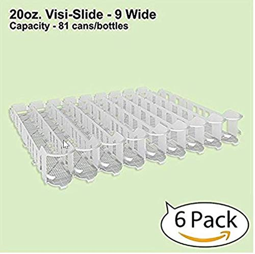 Display Technologies, LLC 20oz. Visi-Slide 9 Wide Beverage Shelf Glide - 6 - 20 Ounce Beverage