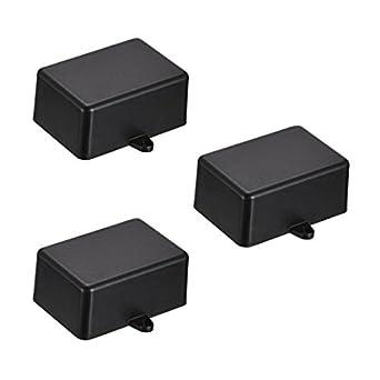 uxcell - Caja de derivación electrónica de plástico (3 unidades, 51 x 35 x 23 mm), color negro: Amazon.es: Amazon.es