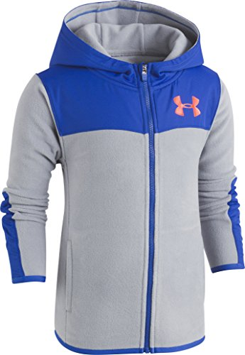 Under Armour Little Boys' Cozy Hoody, Steel, 6 - 08 Zip Hoodie Sweatshirt