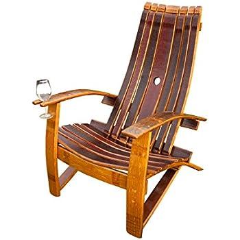 Amazon Com Wine Barrel Adirondack Chair Garden Amp Outdoor