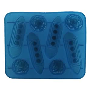 Wrisky Silicone Ice Cube Trays Mold Mould Carving Maker Titanic Shaped For Party Drinks