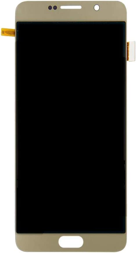 Gazechimp 5.7'' New LCD Touch Screen Replacement Digitizer Glass Assembly Repair Spare Part Compatible for Samsung Galaxy Note 5 Gold