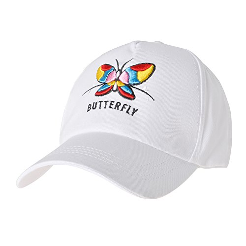 ZLYC Women Cute Embroidered Cotton Baseball Cap Adjustable Snapback Hat (White Butterfly) ()