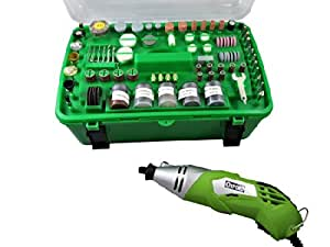 Mini herramienta rotatoria/mini taladro 170W con 218accesorios, en maleta