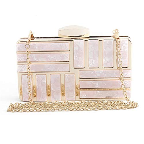 Clutch rosa Bag Acrylic colore The Maybesky Donna Evening Rosa Honor Girl Marble Party Bag Lady UqO0I