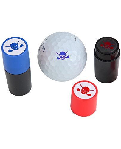 Ball Stamp (Golf Ball Stamp W/ Skull Design - Blue Ink)